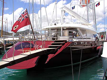 Super-yacht Georgia