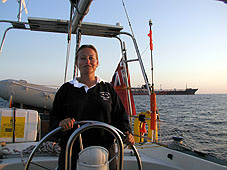 Nicola at the helm