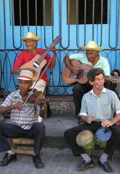 Cuban street band, they were great