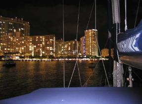 Moonshine at anchor in Miami
